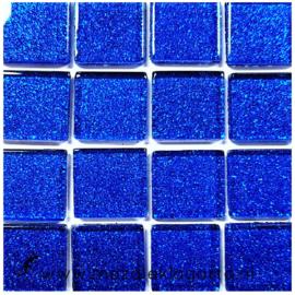 Glitter 2x2 cm per 16 tegels Blauw 024