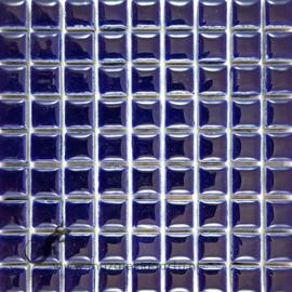 Keramiek tegel 10x10 mm per 81 Donkerblauw 019