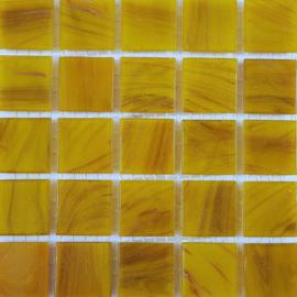 Goudader glastegels Geel per 25 tegels 092