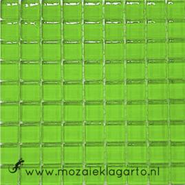 Glastegeltje Murrini Lichtgroen per 81 tegeltjes 022