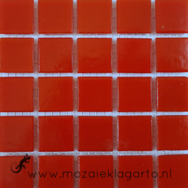Basis glastegels Rood Glad per 25 tegels 096