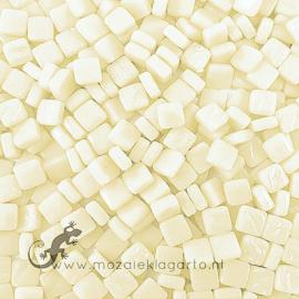 Mozaïek tegeltjes glas 8 x 8 mm Opaal per 50 gram Albast 090