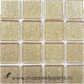 Glitter 2x2 cm per 16 tegels Witgoud 041