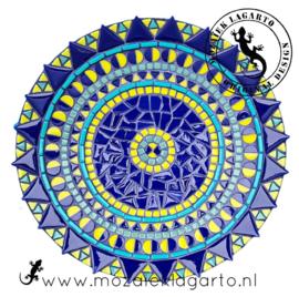 Mozaiekpakket 18 Schaal Bistro Blauw/Zeegroen/Geelgroen