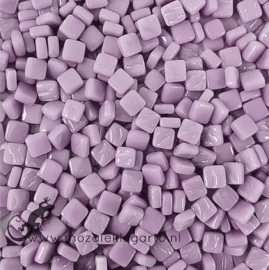 Mozaïek tegeltjes glas 8 x 8 mm Opaal per 50 gram Lila 053