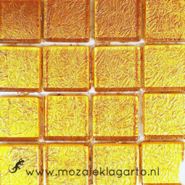 Folie glas per 16 tegels Geelgoud 2332