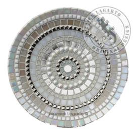 Mozaiekpakket 3 Schaal Cameleon Wit/Zilver