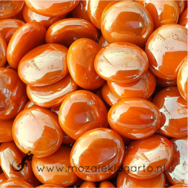 Glas Nugget 17-22 mm Opaal Iriserend 50 gram Oranje 4448
