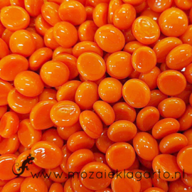 Glas Nugget Mini 9-13 mm Opaal 50 gram Oranje 4380