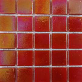 Rood Parelmoer 2 x 2 cm per 25 tegels