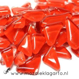 Mozaiek puzzelstukjes Soft Glas 100 gram Rood 037