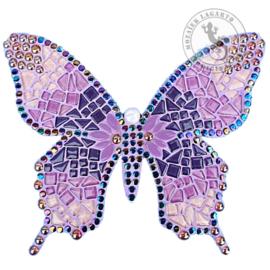 Mozaiekpakket 53 Vlinder Farfalla Paars/Lila/Roze