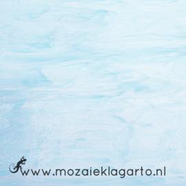 Glasplaat 20 x 20 cm Semi Translucent  Licht Aqua/Wit Y8335st