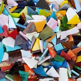 Gekleurde glasscherven 200 gram Bonte Mix 300