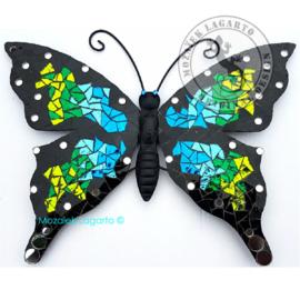 Mozaiekpakket 40 Vlinder Papillon Blauw-Aqua-Groen