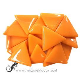Glasmozaiek Driehoek 29 mm per 100 gram Oranje 104