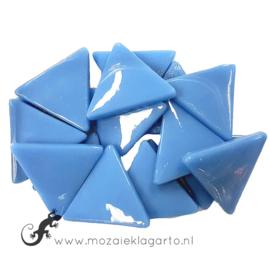 Glasmozaiek Driehoek 29 mm per 100 gram Aqua 064