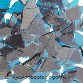 Gekleurde glasscherven Transparant  Donker Aqua W90-43t