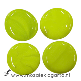 Glas Nugget 30-38 mm per 4 Opaal Lichtgroen 4506