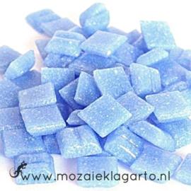 Basis  glastegeltjes 1 x 1 cm per 50 gram Lichtblauw 017