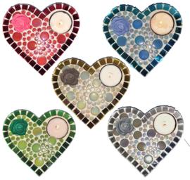 Mozaiekpakket 30 Waxinehouder Amore 5 kleuren
