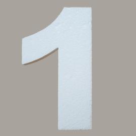 Ondergrond mozaïek Styropor Cijfer 1