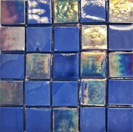 Glastegels 15 mm  Donkerblauw per 25 tegels 123-15