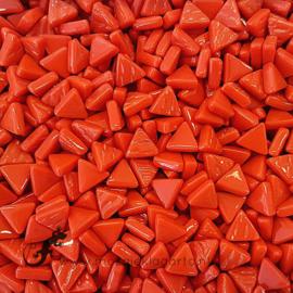 Glasmozaiek Driehoekjes 10 mm per 50 gram Rood 107