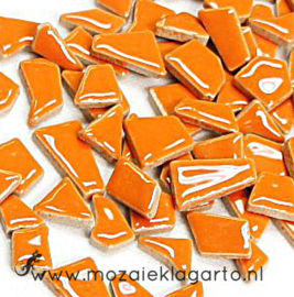 Keramiek Puzzelstukjes per 100 gram Oranje 006