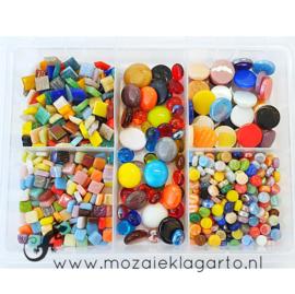 Glasmix in sorteerdoos 500 gram Mix Bont 500-7