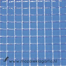 Glastegeltje Murrini Lichtblauw per 81 tegeltjes 000