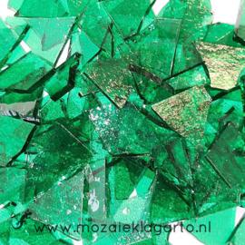 Gekleurde glasscherven Transparant Helder Groen W90-11t