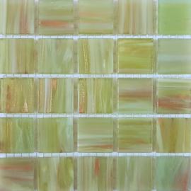Goudader glastegels Mintgroen per 25 tegels 021