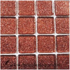 Glitter 2x2 cm per 16 tegels Bruin 045
