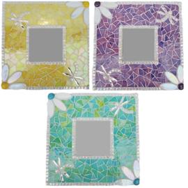 Mozaiekpakket 33 Spiegel Libelle 3 kleuren