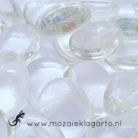 Glas Nugget 17-22 mm Transparant 50 gram Blank 4428