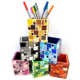 Mozaiekpakket 26 Pennenbeker Kubiko 6 kleuren