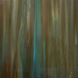 Glasplaat 20 x 20 cm Opaal  Aqua/GroenBruin W96-37o