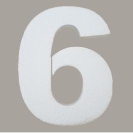 Ondergrond mozaïek Styropor Cijfer 6