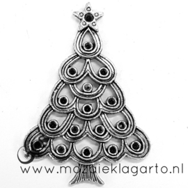Kerstboom metaal 5 x 3.5 cm