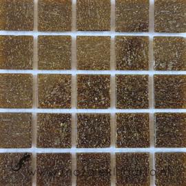 Basis glastegels Aardebruin per 25 tegels 036