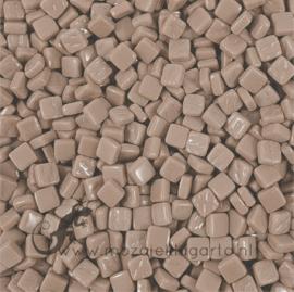 Mozaiek tegeltjes glas 8 x 8 mm Opaal per 50 gram Grijsbruin 046