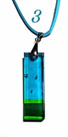 Handgemaakte glashanger Groen/Turquoise