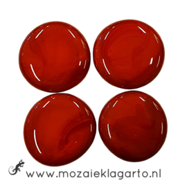 Glas Nugget 30-38 mm per 4 Opaal Rood 4504