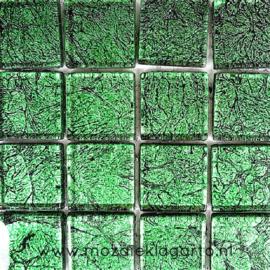 Folie glas per 16 tegels Groen 1033