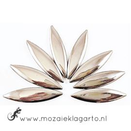 Keramiek bloemblaadjes Groot per 8 Zilver 1001