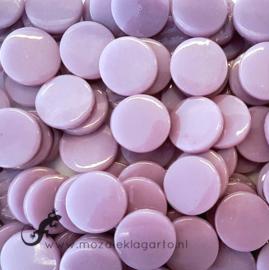 Glastegel Rond 18 mm per 50 gram Lila 053