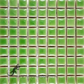 Keramiek tegel 10x10 mm per 81 Jadegroen 142