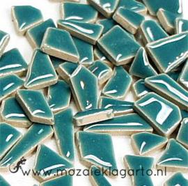 Keramiek Puzzelstukjes per 100 gram Zeegroen 016