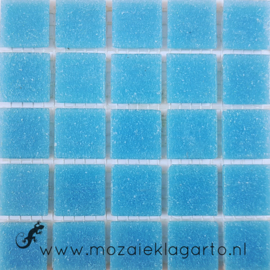 Basis glastegels Cyaan 25 tegels 013